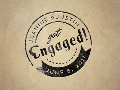 Engagement Stamp  by Justin Hall #logo #logos #design  #branding #graphic