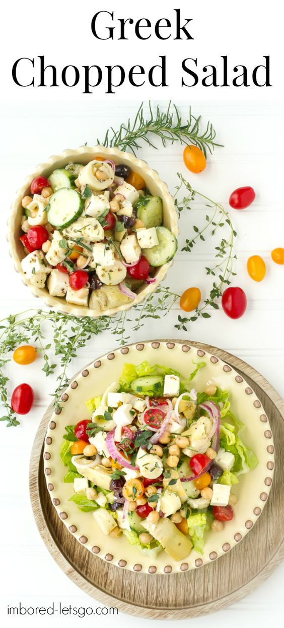 Chopped salads, Greek salad dressings and Salads on Pinterest