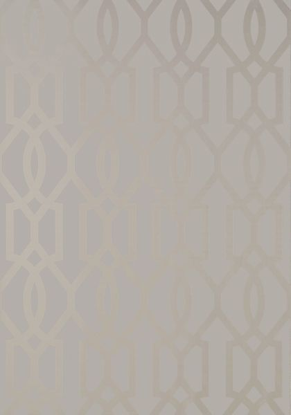 Thibaut downing gate metallic silver on grey from neutral for Neutral bedroom wallpaper