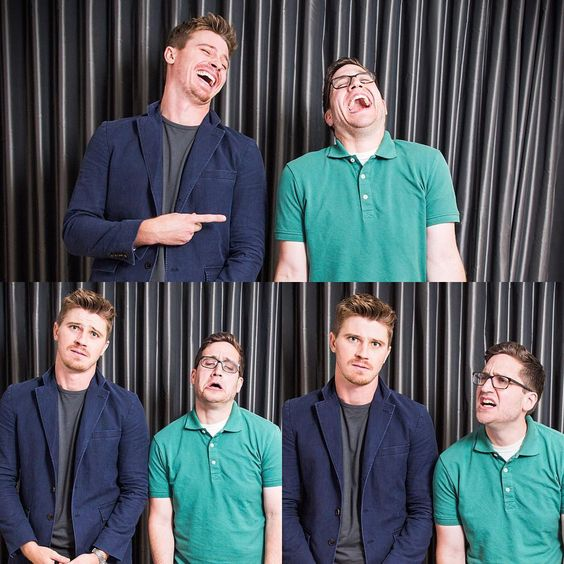 """Happy/Sad/Confused. With Garrett Hedlund. #happysadconfused #garretthedlund #pan Photo: @laurenweissler"""
