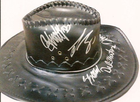 True Grit Cast Autographed Leather Hat found on Endorfyn.