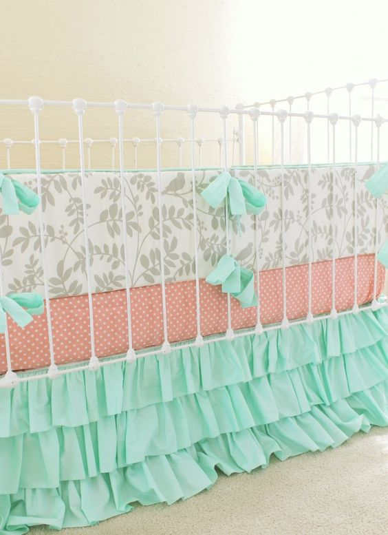 We Adore Mint Green In A Baby Girl Nursery How Perfect Is This Bedding From