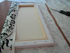 DIY Wall Art. Fabric on Canvas or Corkboard.