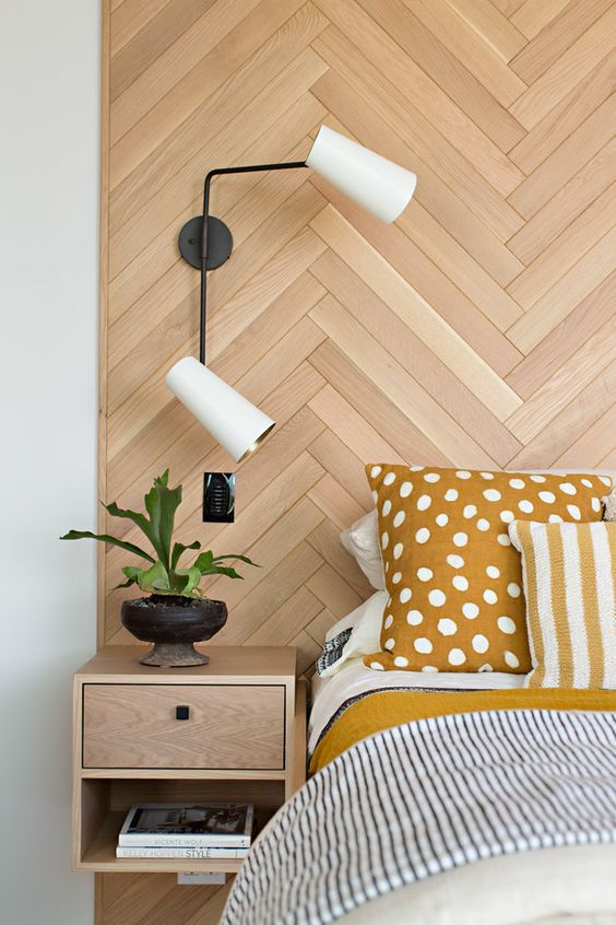 Cypress Double Swing Arm Sconce Bedroom Lighting