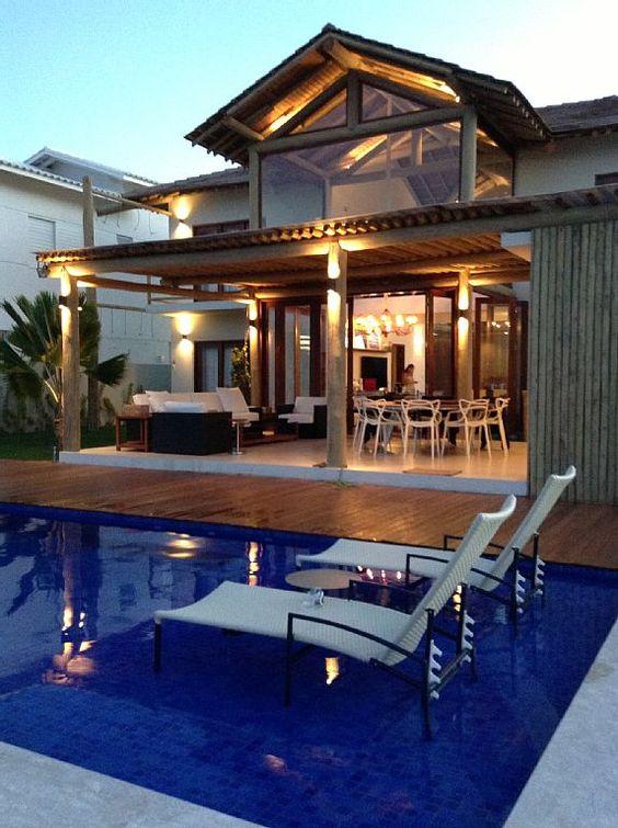 Casa Temporada na Praia do Forte: Casa nova, ampla na melhor praia das piscinas naturais