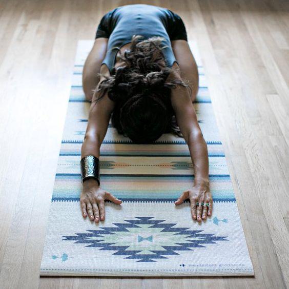 Ayampe Yoga Mat-printed yoga mat-yoga mat-custom yoga mat-bohemian-boho-rug-navajo-aztec-tribal-yoga