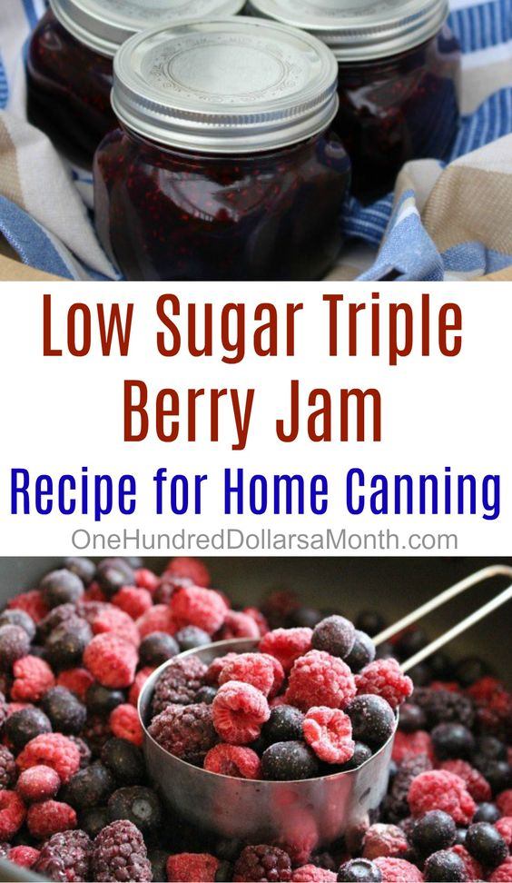 Low Sugar Triple Berry Jam Recipe - One Hundred Dollars a Month