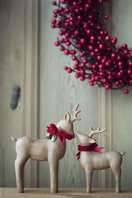 Festive reindeer decor by Ruth Black for Stocksy United