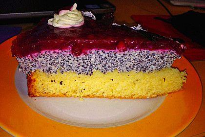 Mohn-Quark Torte mit Preiselbeeren (Rezept mit Bild) | Chefkoch.de