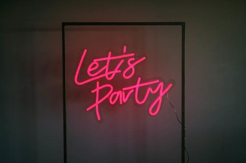 Lets Party Neon Sign 70 X 57cm H 150 Qty 1 New To The
