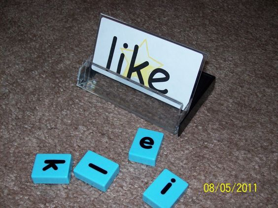use an old cassette tape case to make a sight word holder. Put the word and letter tiles in the case for kids to spell. Have a case for each word.