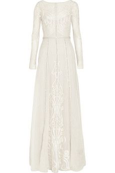 Temperley London Crivelli embroidered tulle and silk-organza gown | NET-A-PORTER
