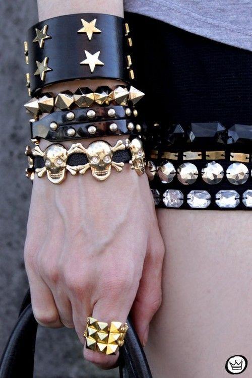 Imagen de fashion, bracelet, and black