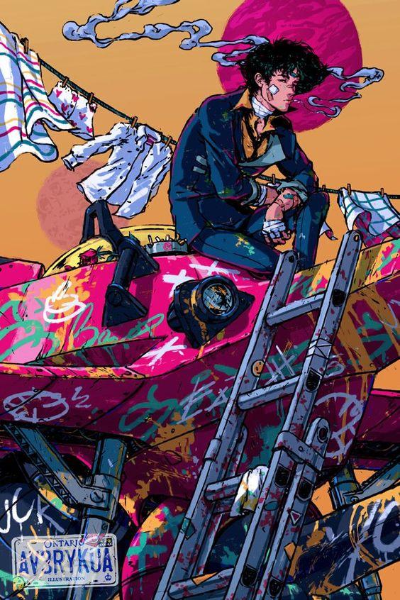 Pin By Suspiria On Cowboy Bebop Cowboy Bebop Wallpapers Cowboy Bebop Cyberpunk Art