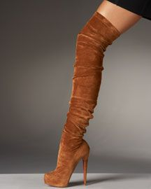 Tan Thigh High Boots - Cr Boot