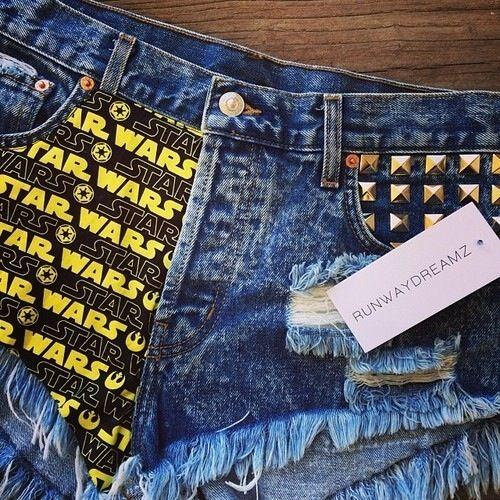 Star Wars Novelty High Waisted Shorts- Freakin' Awesome :)