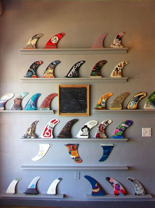 Surfboard fins surfboard and surf on pinterest - Decoration surf chambre ...