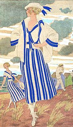 Illustration from 1920 Fashion Gazette du Bon Ton passt perfect zum aktuellen Bodensee, lol