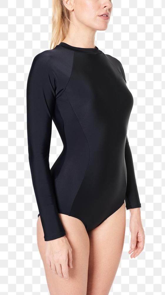 Png Woman S Black Swimsuit Mockup Free Image By Rawpixel Com Roungroat Clothing Mockup Black Swimsuit Women
