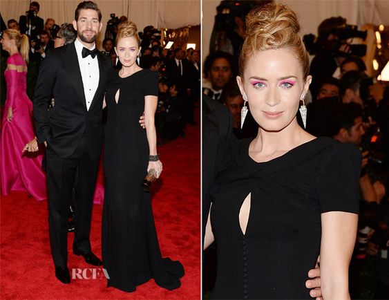 Met Gala 2013: Pretty in Punk! | Visual Therapy | Emily Blunt in Carolina Herrera