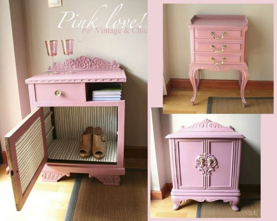Restaurar muebles antiguos en lindos para la recamara de las nenas  VirMuebl...