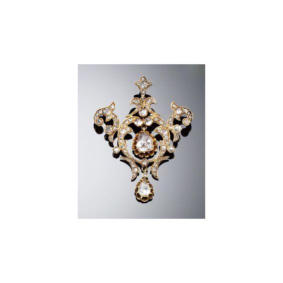 DIAMOND PENDANT/BROOCH, LATE 19TH CENTURY | lot | Sotheby's