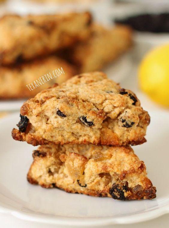 Whole Wheat Blueberry Lemon Ginger Scones - The Lemon Bowl