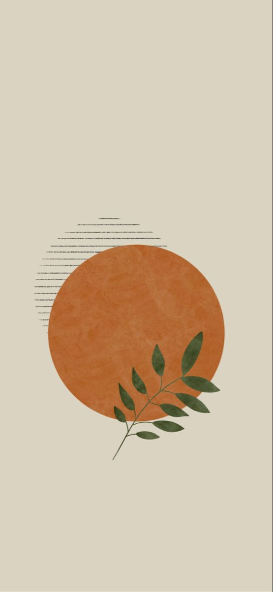 Botanical Bohemian Background Megan Schofield Design Wallpaper Iphone Boho Bohemian Iphone Wallpaper Iphone Wallpaper Orange