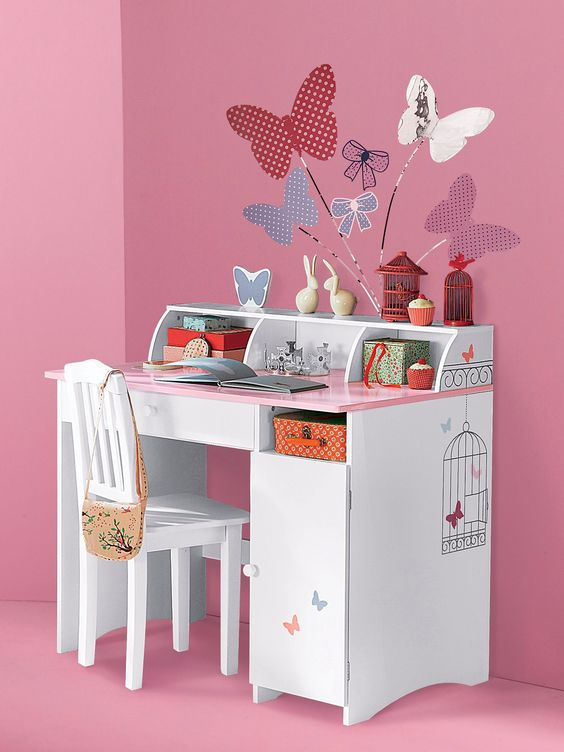 Bureau enfant fille for Meuble bureau fille