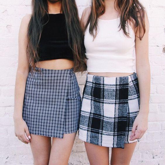 Cute tartan skirts: