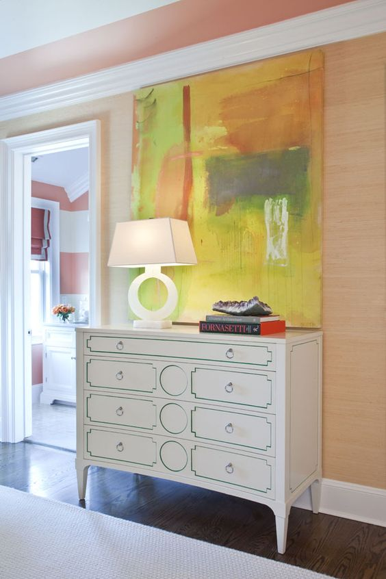 The Hampton Designer Showhouse by Tobi Fairley featuring the Large Ring Table Lamp in Alabaster: CHA8970