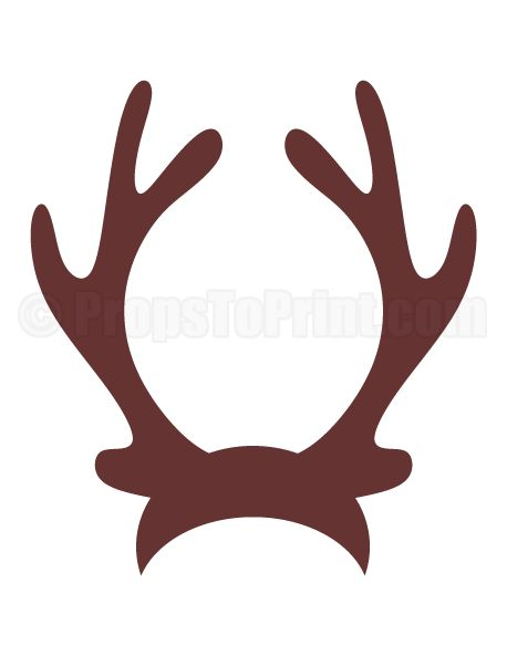 Printable reindeer antlers photo booth prop. Create DIY props with our free PDF template at http://propstoprint.com/download/reindeer-antlers-photo-booth-prop/