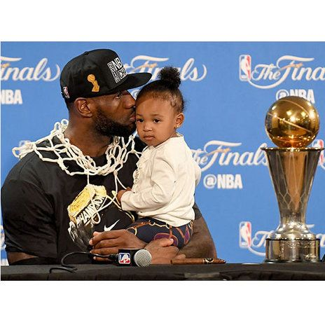 Basketball's King of the court and NBA MVP is also a superstar dad and husband. See his cutest family moments! | essence.com