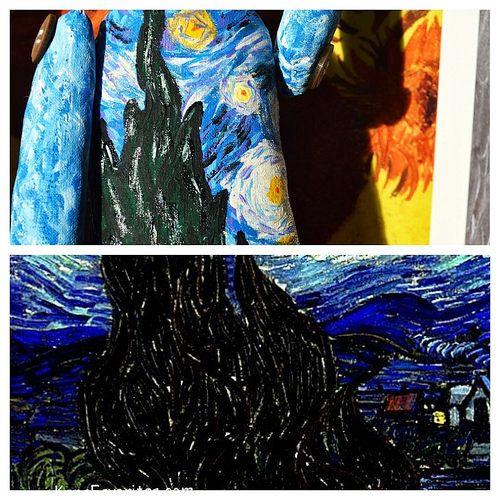 Vincent van Gogh | por Alma de Boneca Alma de Boneca, brotando no coração!2149b.iluria.com ❤ #almadeboneca #clothdoll #handmade #couture #tree #custom #exclusive #visualartist #dollmaker #painting #art #vangogh #vincent #vincentvangogh #starrynight #colors #shine #collectors #dreams #poetry #beauty #stars
