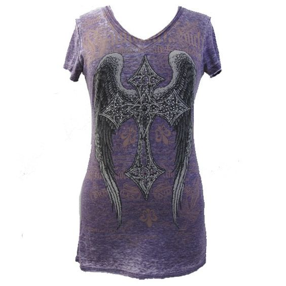 Love this gothic cross shirt by Vocal and the purple!
