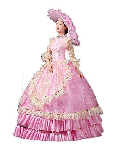 Zukzi Women's Ruffles Gothic Victorian Fancy Lolita Dress Costumes, Pink Size 14 Zukzi http://www.amazon.com/dp/B017NQPYZO/ref=cm_sw_r_pi_dp_q-iexb0594NFF