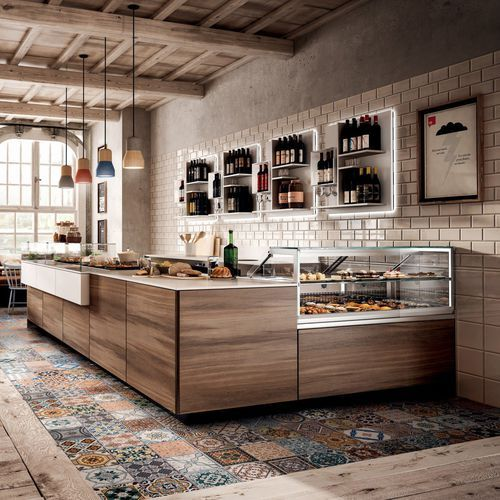 Comptoir De Bar En Bois Droit En L Be Like Frigomeccanica Idee Alimentari Ristorante
