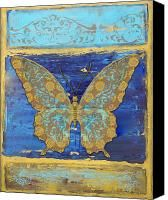 Fanciful Yellow Butterfly Painting by Jean PLout - Fanciful Yellow Butterfly Fine Art Prints and Posters for Sale