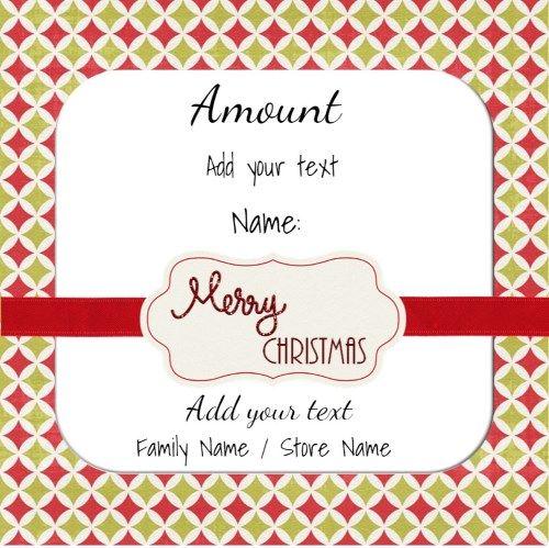 Free printable Christmas gift certificate template Can be - online gift certificate template