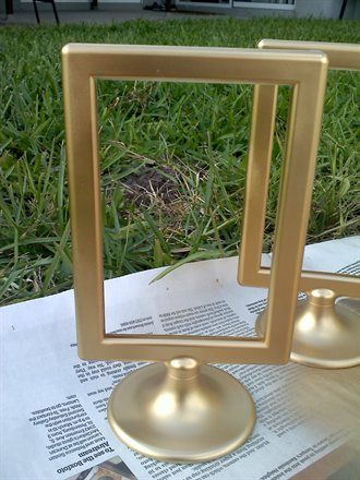 Spray Painting Tolsby Frames