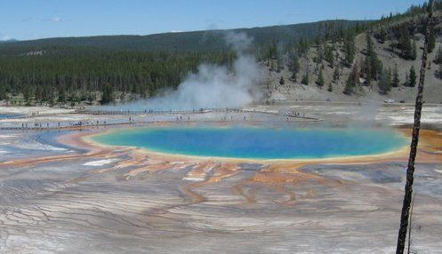 Yellowstone national park. This view was worth the long hike up a steep hill.