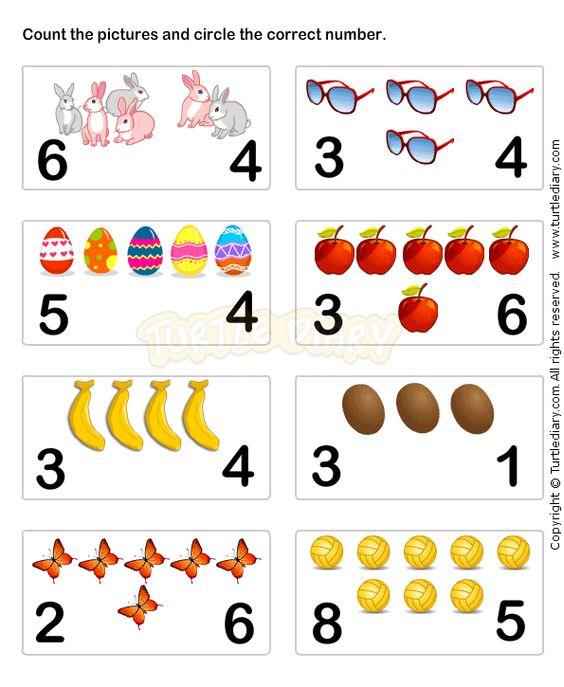 Learn Numbers Worksheet5 math Worksheets preschool Worksheets – Toddler Math Worksheets