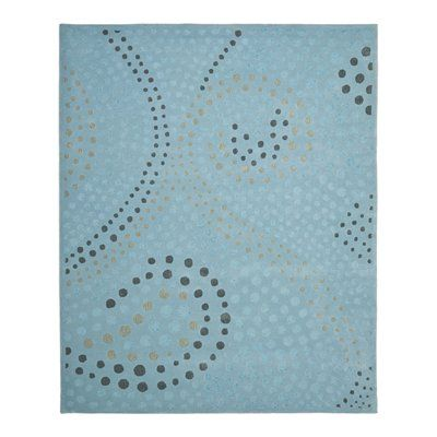 Safavieh JAR453A Jardin Area Rug, Light Blue/Grey