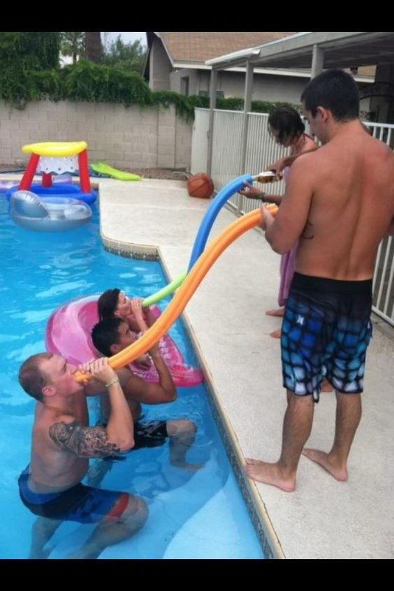 Pool party beer funnel...oh boy, I see this happening: