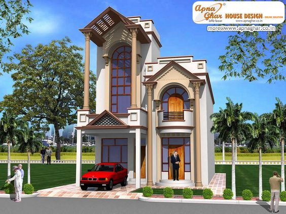 Simple duplex house design in x 15m click for Indian home naksha
