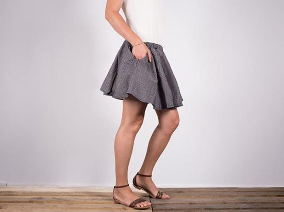 Tutoriel DIY: Coudre une jupe parapluie aérienne via DaWanda.com