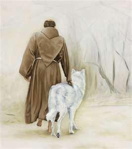San Francisco con el lobo blanco.: