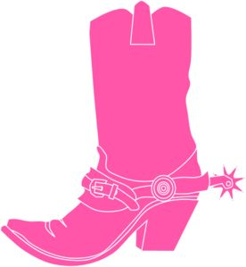 Pink Cowgirl Clip Art | Pink Cowgirl Boot clip art - vector clip art online, royalty free ...