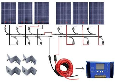 Amazon Com Eco Worthy 24 Volts 600 Watts Solar Power System Off Grid 6pcs 100w Poly Crystalline Solar Pa Solar Panels Solar Panel Kits Portable Solar Panels