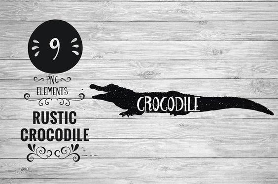 Rustic Crocodile by Kaazuclip on Creative Market